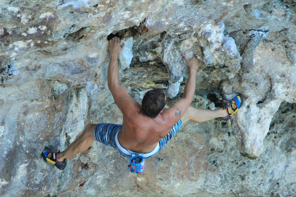 DWS in Cala Barques 'The might of the Stalactite 7a'