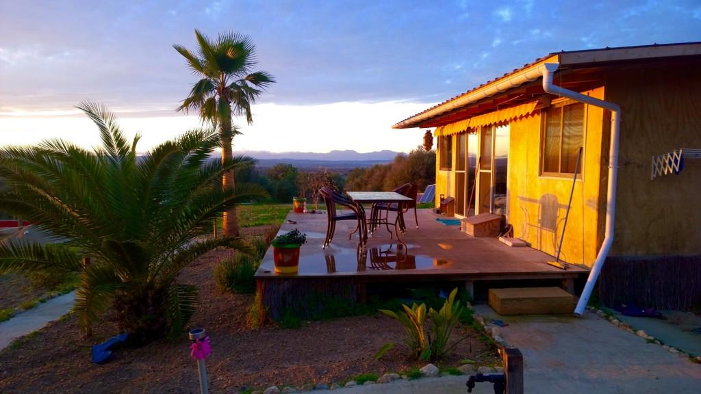 Sonnenuntergang auf unserem wunderschönen Camperhof
