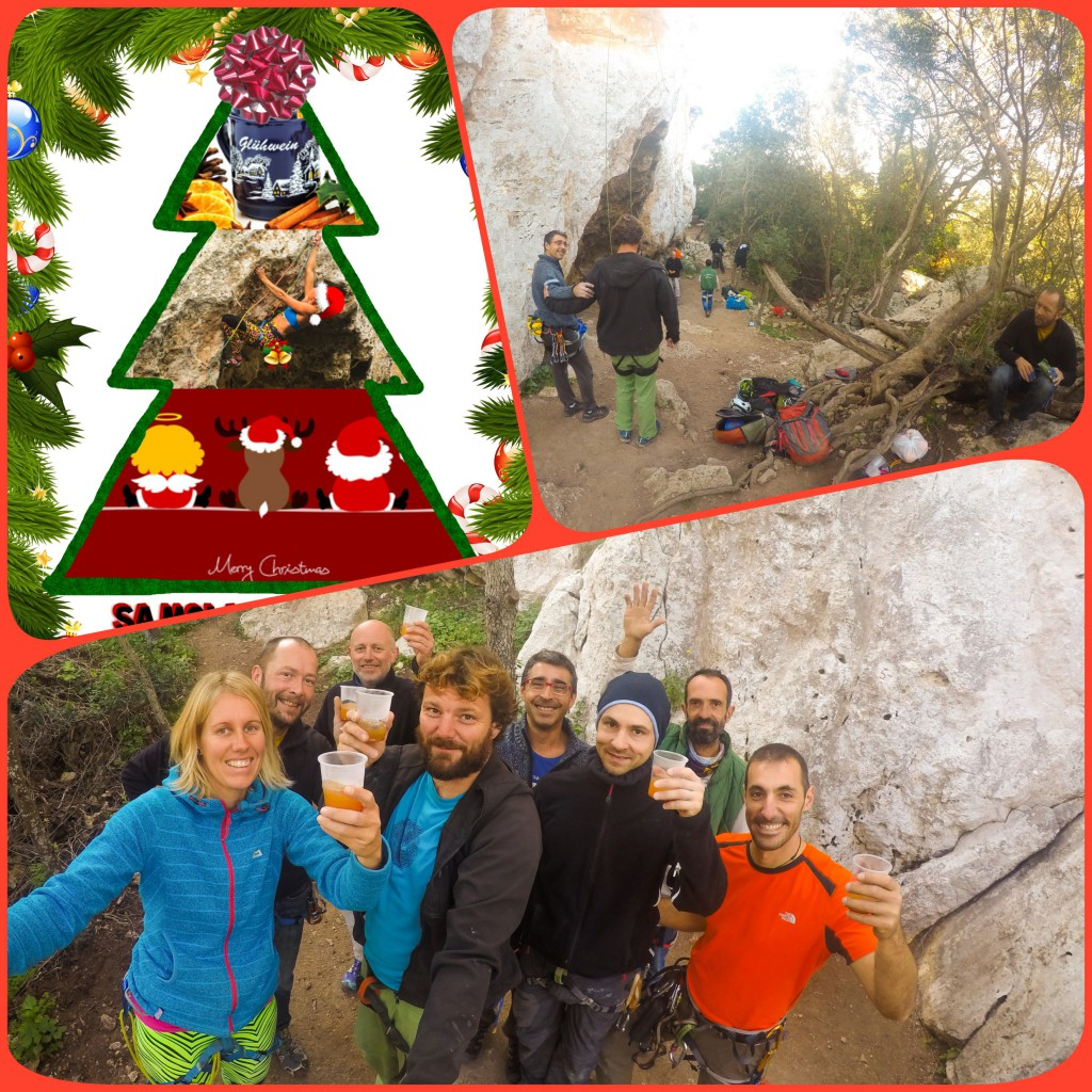 Weihnachtsklettern in Sa Mola de Felanitx mit Glühwein und lieben Freunden