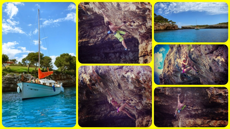 Deep Water Soloing in Cala Mitjana